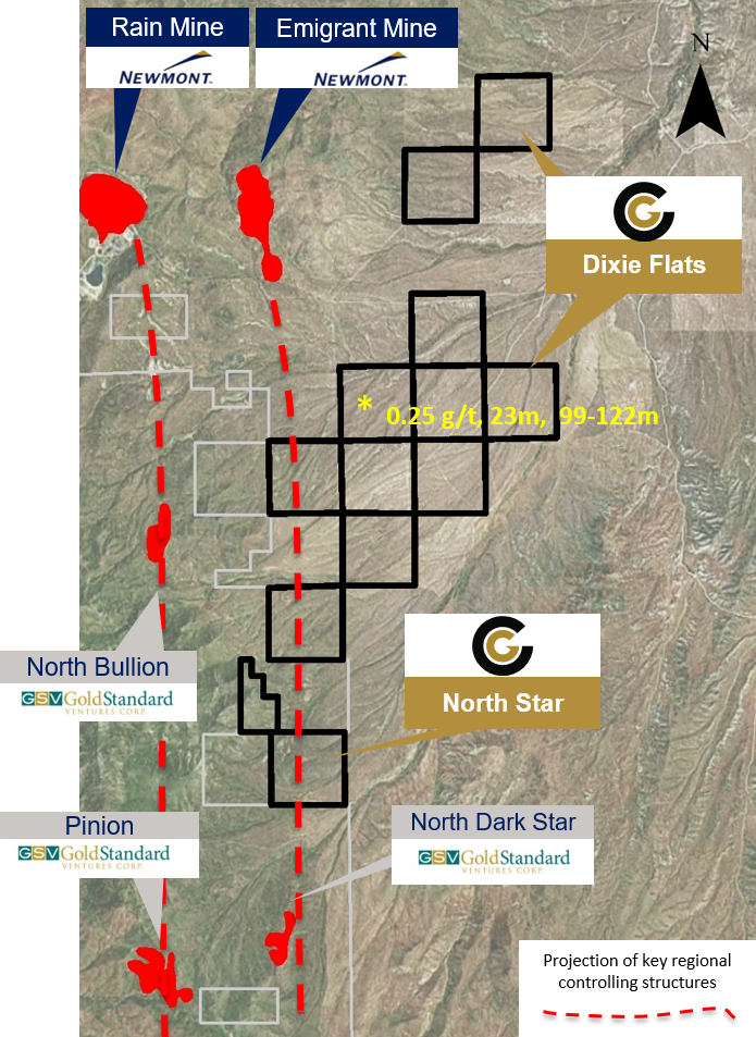 Dixie Flats & North Star Project Map
